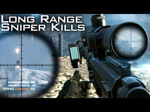 Battlefield 4: Long Range Sniping - 1415 meter Headshot