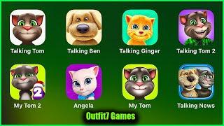 Talking Tom,Talking Ben,Talking Ginger,Talking Tom 2,My Tom 2,Angela,My Tom,Talking News screenshot 2