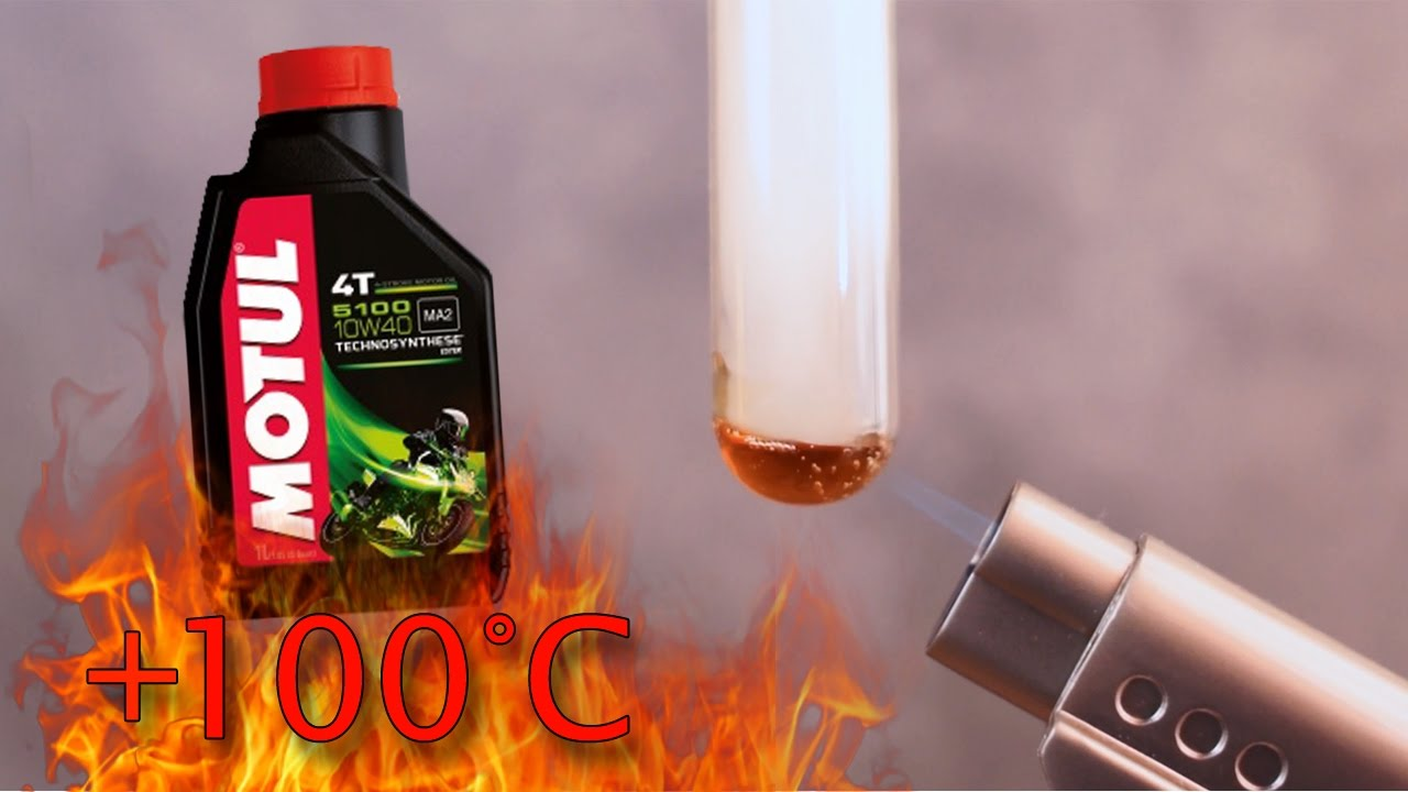Motul 5100 10W40 4t How clean is the engine oil? Test above 100 ° C