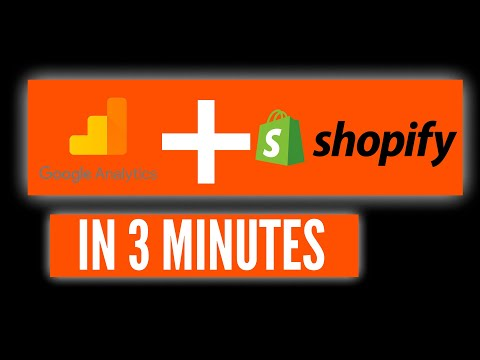 How to Setup Google Analytics On Shopify in 3 Minutes