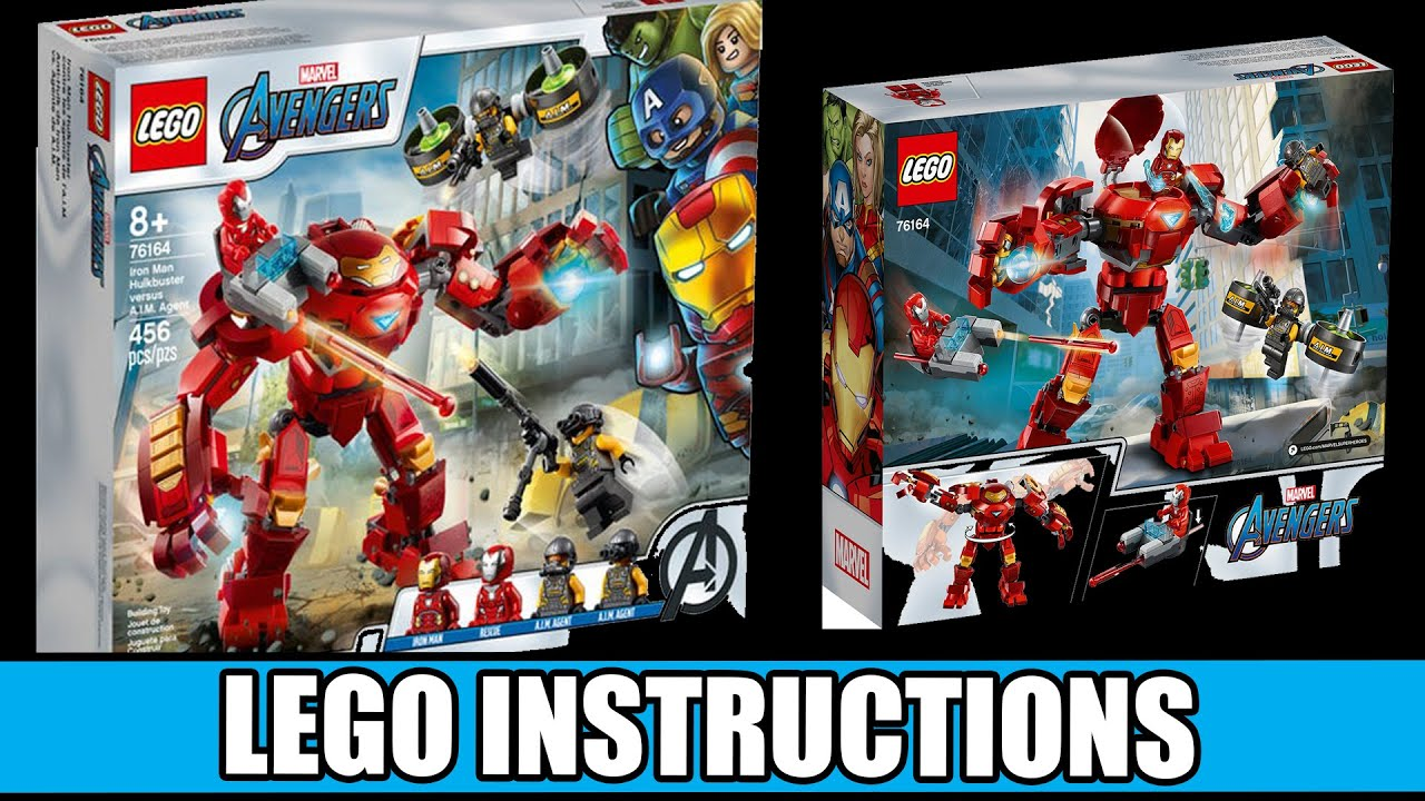 LEGO Instructions: How to Build Iron Man Hulkbuster versus A.I.M Agent - 76164 (LEGO MARVEL)