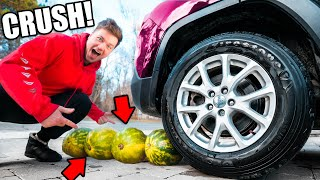 ULTIMATE CRUSHING SATISFYING THINGS BY CAR CHALLENGE!
