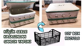 SEBZE KASASINDAN SANDIK YAPIMI, Plastik Kasa | HOW TO MAKE A RECYCLED BOX | PLASTIC CRATES IDEA