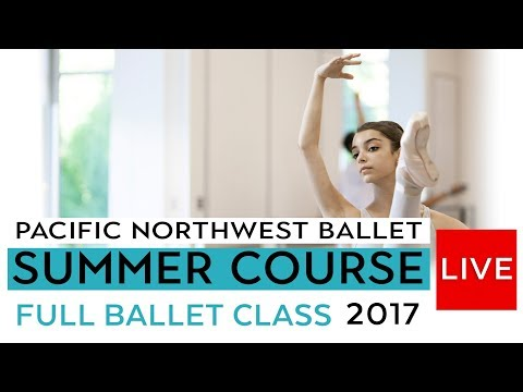 PNB Summer Course 2016 -  Full Ballet Class LIVE - Level VIII