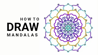 MANDALA BLUE FLOWER   HOW TO DRAW MANDALAS   MANDALA FLORAL AZUL   COMO DESENHAR MANDALAS
