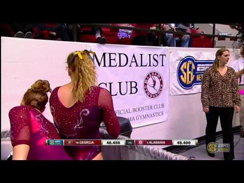 2016 NCAA WGym Alabama vs Georgia 720p60 NastiaFan101