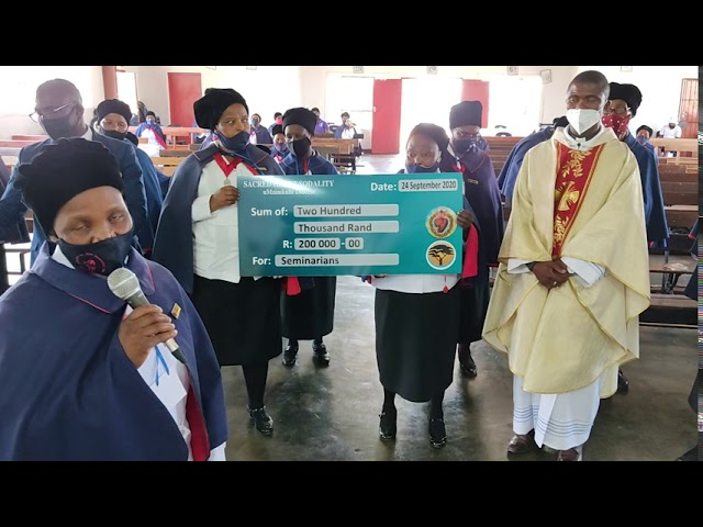 Sacred Heart Sodality of Umzimkulu Diocese -  donation for Seminarians