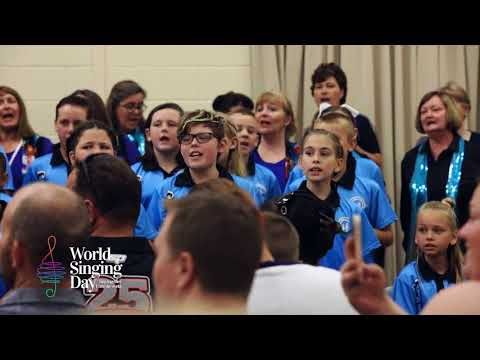 World Singing Day in Perth, Australia 2017 with Circle of Friends Choir