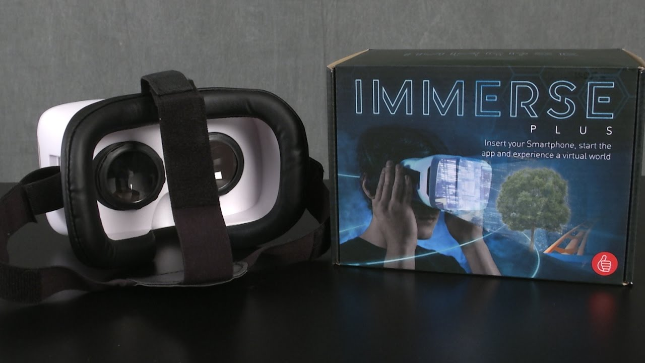 a347aa92674 Immerse Plus Virtual Reality Headset from Thumbs Up - YouTube