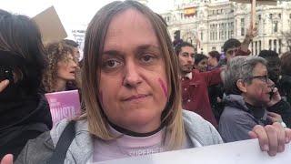 Mujeres LGTB en la manifestación del 8 de marzo de Madrid