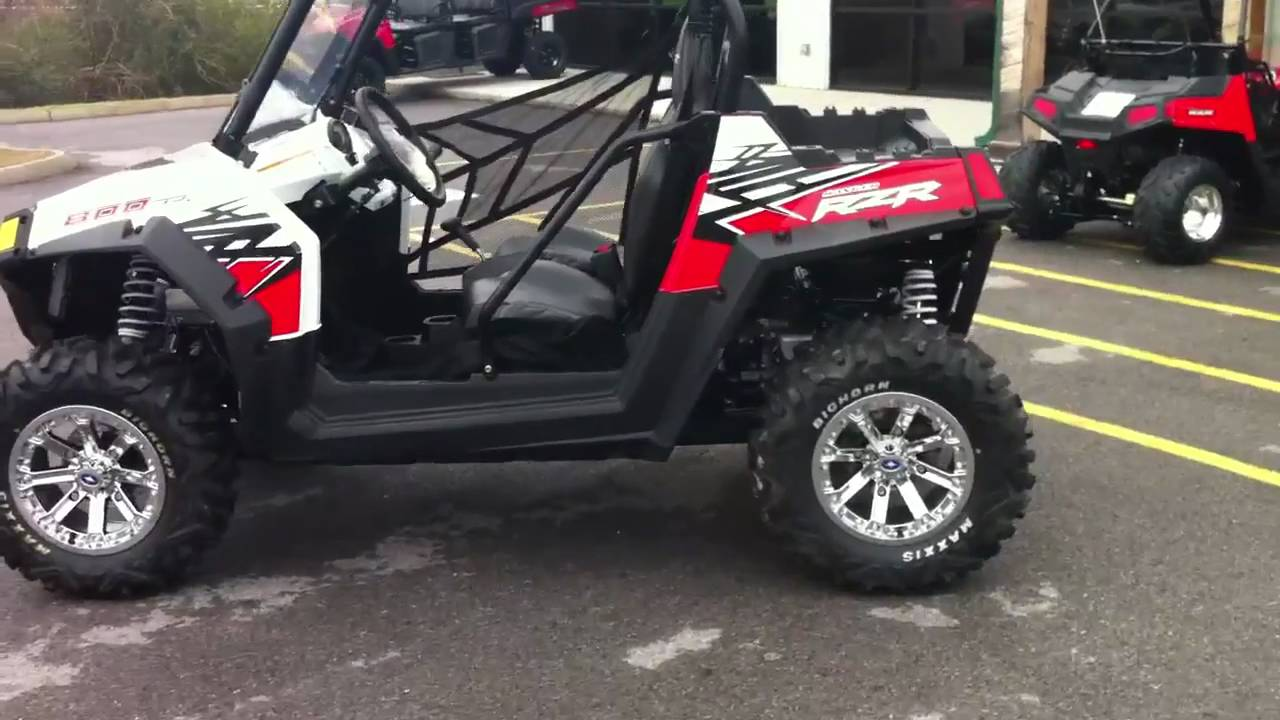 2011 polaris rzr 800 le red and white [ 1280 x 720 Pixel ]
