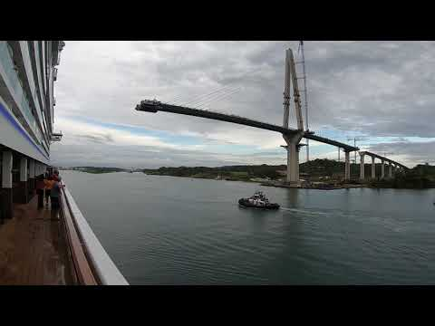 Norwegian Bliss Enters The Panama Canal