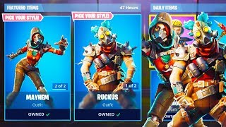 New RUCKUS & MAYHEM SKINS in Fortnite! (New Fortnite Skins Gameplay)