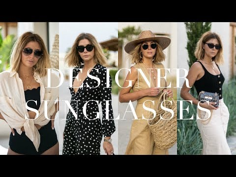 My Designer Sunglasses Collection | 16 Pairs | Ray Ban, Celine, YSL