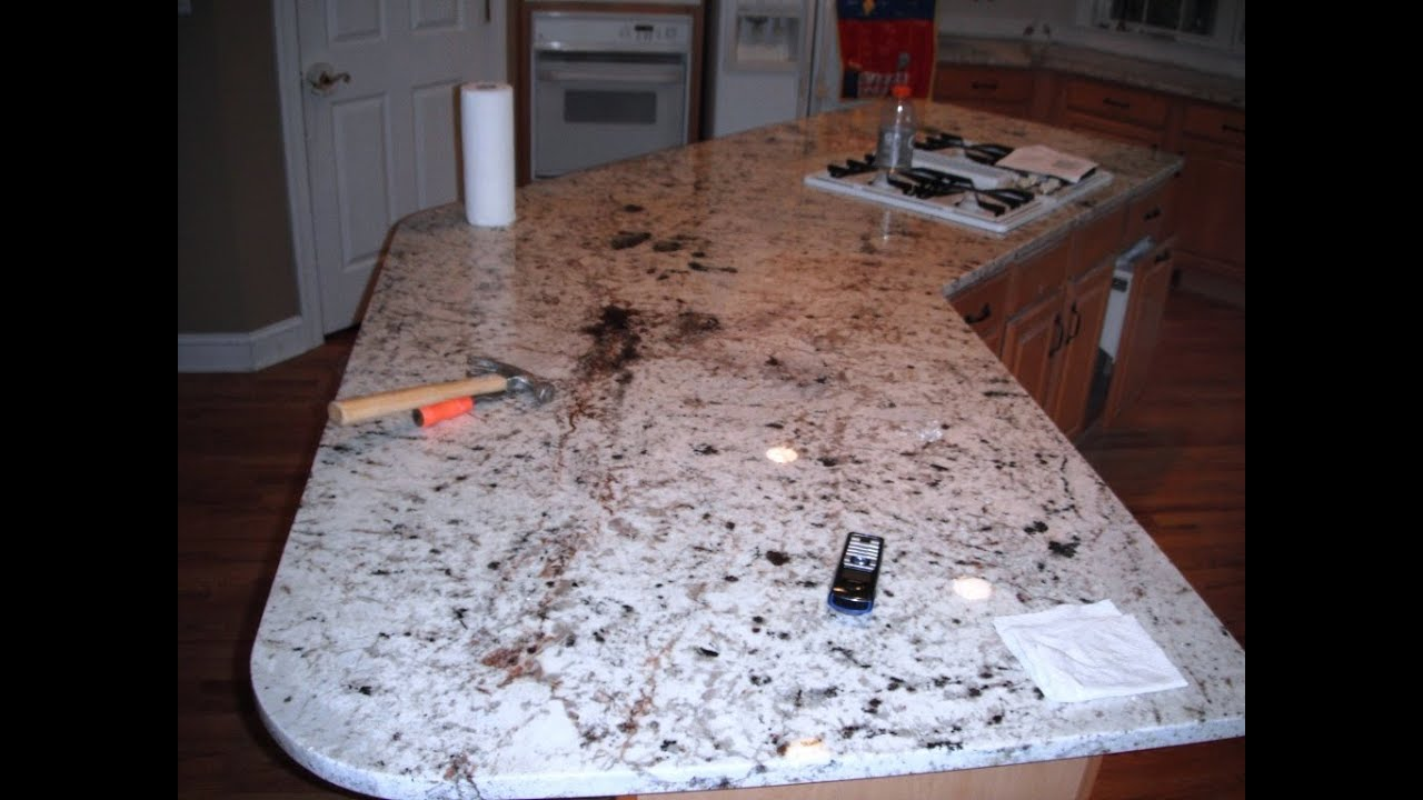 Granite Countertops Charlotte Floratta White On Light Wood Cabinets 05 29 12 Youtube