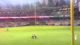 Fan runs on to field at Arizona Diamondbacks game.