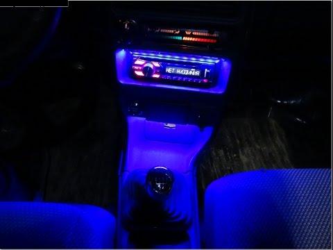 Подсветка магнитолы, USB зарядка в ВАЗ 2114 своми руками. Видео № 102