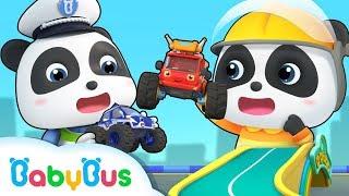 Video Baby Panda and Super Monster Cars | Super Rescue Team | Super Train, Policeman,Fire Truck | BabyBus download MP3, 3GP, MP4, WEBM, AVI, FLV September 2019