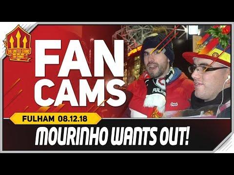 MOURINHO Wants Madrid! Manchester United 4-1 Fulham Fancam