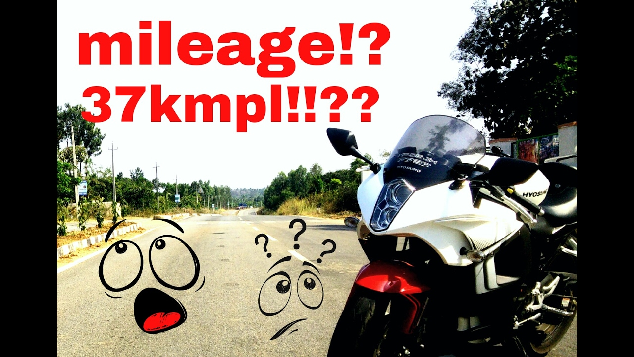 More than 37kms per litre??? | Mileage check | Hyosung Gt250R ...