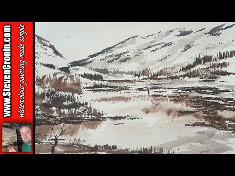 Quick and simple watercolour demo – Winter in the Lake District