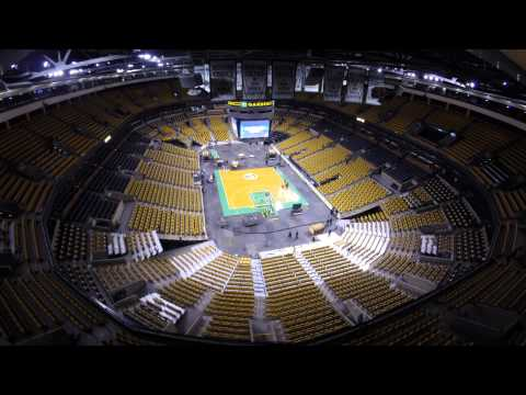 Time Lapse Video at the TD Garden: Celtics to Bruins 12/31/14