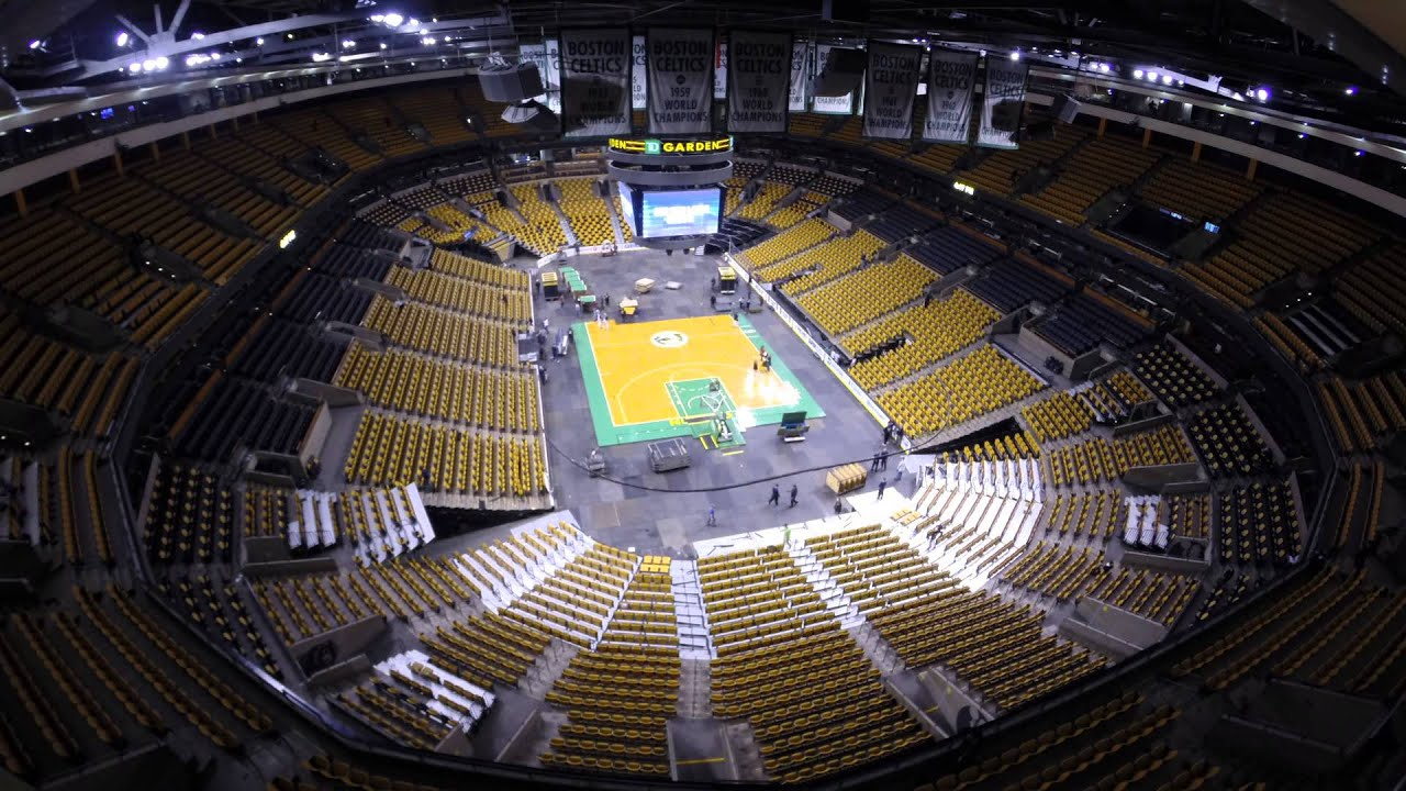 time lapse video at the td garden celtics to bruins 12 31 14