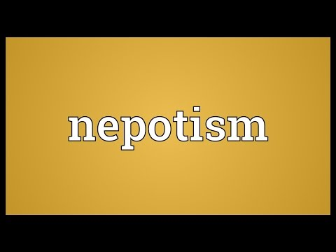 Nepotism Meaning