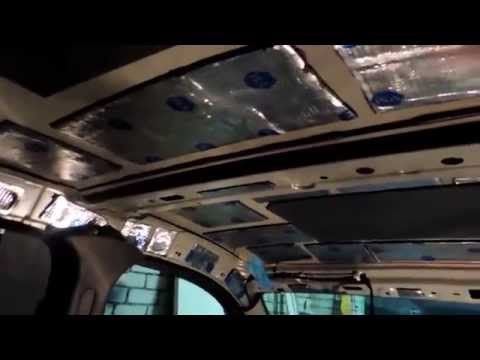 Шумоизоляция крыши автомобиля Рено Логан/Renault Logan