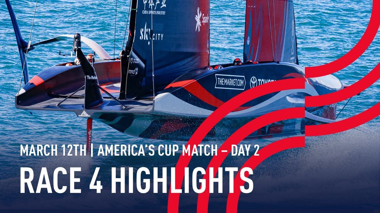 36th America's Cup Race 4 Highlights
