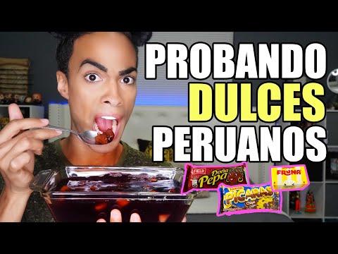 PROBANDO DULCES PERUANOS -REGALADOS POR FIEL SEGUIDORA