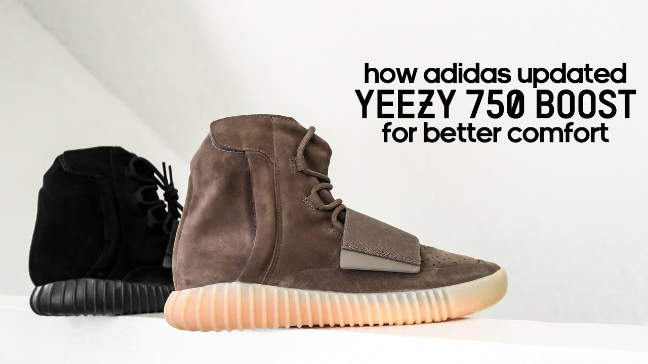 wholesale dealer 3267c 7517a How adidas Updated Yeezy 750 Boost for Better Comfort