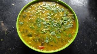 Dabha Style  Pappu Palakura ( Spinach dal) recipe  in Telugu