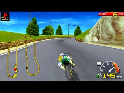 Moto Racer - Gameplay PSX / PS1 / PS One / HD 720P (Epsxe)
