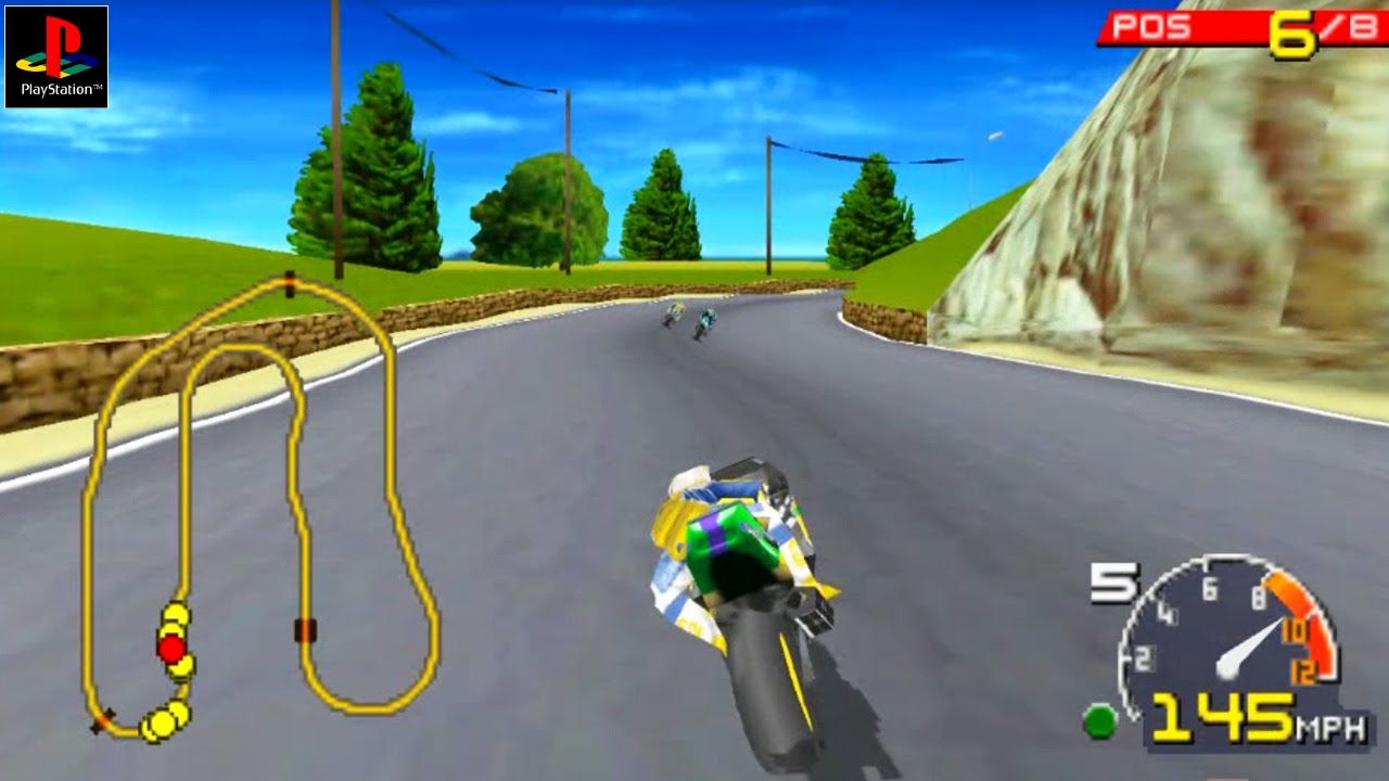 Moto Racer - Gameplay PSX / PS1 / PS One / HD 720P (Epsxe) - YouTube