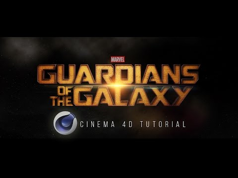 Guardians of the Galaxy Text Effect + Free Project File | Cinema 4D Tutorial