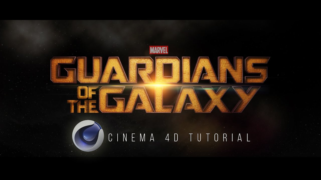 guardians of the galaxy text effect free project file cinema 4d tutorial youtube. Black Bedroom Furniture Sets. Home Design Ideas