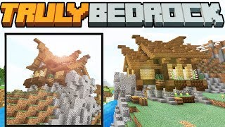 Truly Bedrock - S1 E16 - Back to Building/Cliffside Nordic House - Minecraft SMP
