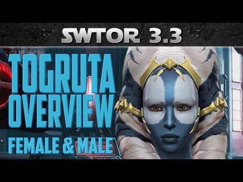 SWTOR Togruta Overview - Appearance, Customization, Unlocks