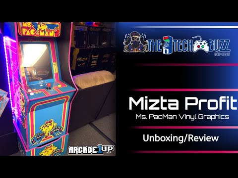 Mizta Profit Arcade1up Ms Pacman Vinyl Review and Unboxing from The Tech Buzz