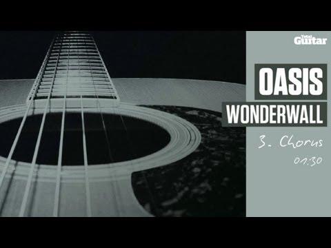 Guitar Lesson: Oasis 'Wonderwall' -- Part Three -- Chorus (TG213)