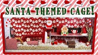 Gingersnap's SANTA Themed Hamster Cage! Thumbnail