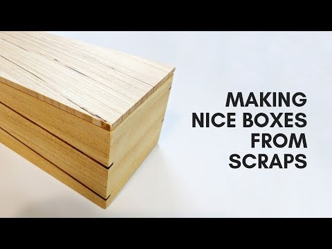 Wooden Keepsake Boxes Made From Scraps