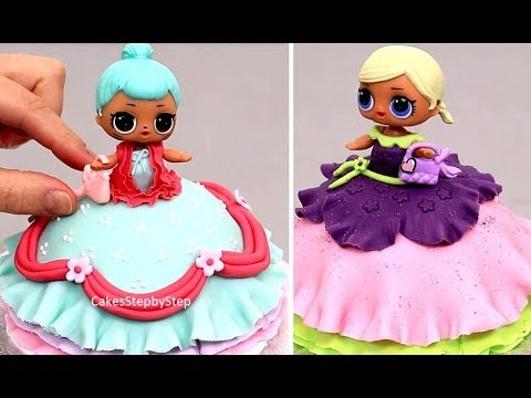 How To Make Lol Doll Mini Cakes By Cakes Stepbystep Youtube
