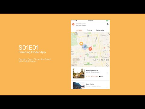 S01E01 - Camping Spots Finder App - Map - React Native