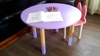 видео стол детский из дерева