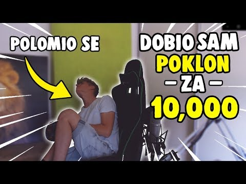 SLOMIO SAM GUZ na čekanju 10,000 PRETPLATNIKA - (Dobio sam POKLON za 10K) - Unboxing