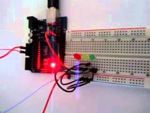 Arduino мерцание светодиодов