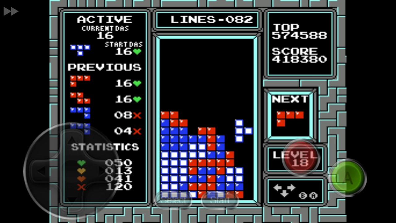 NES Tetris] 600k in Mobile Phone Emulator - YouTube