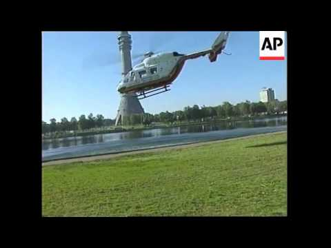RUSSIA: FIRE ENGULFS OSTANKINO BROADCASTING TOWER 2